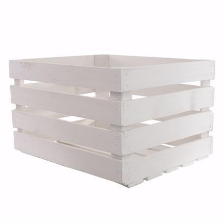 Deko Holzkiste weiss 50x40x30cm Obstkiste Holzbox