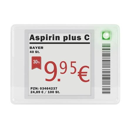 ePaper-Display, voll grafikfähig 27,6 x 27,6mm