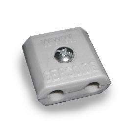 Drahtverbinder, Kunststoff, grau, 6 mm