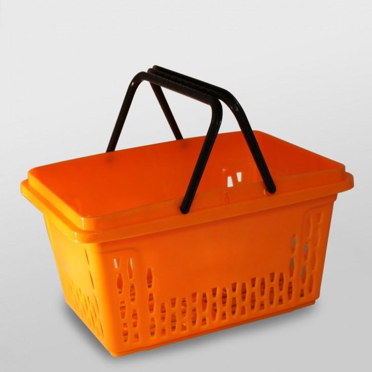 Einkaufskorb mit 2 Bügel, 18 Liter, orange