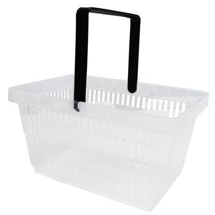 Einkaufskorb mit 1 Bügel,21 Liter, transparent