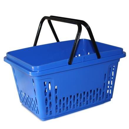Einkaufskorb mit 2 Bügel, 40 Liter, blau