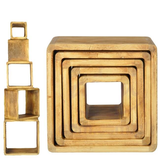 Cube Set 5 Würfel als Regal Hocker und Tisch