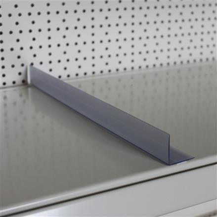 Fachteiler, transparent, 600x 30x 30 mm - 600mm | 600mm