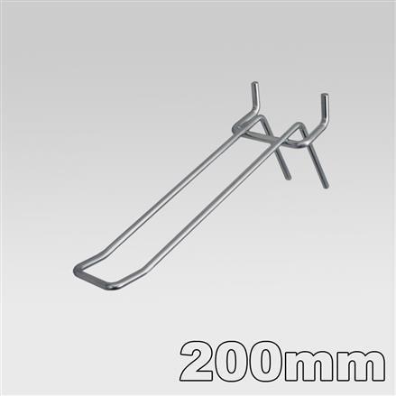 Doppelhaken für Lochblech Länge = 200 mm - 200mm 3,4mm | 200mm 3,4mm