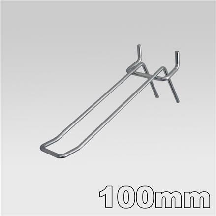 Doppelhaken für Lochblech - 100mm 3,4mm | 100mm 3,4mm