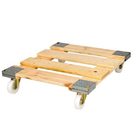 Holzrollplatte mit Eisenverstärkung auf Rollen