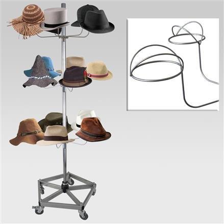 Hutständer mit 3 Hutetagen, Fuß verstärkt