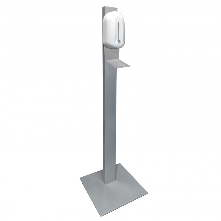Standfeste Hygienestation Légère mit Sensor-Dispenser, 130 cm Höhe