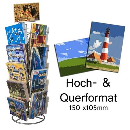Kartenständer mit 18 Fächern 105x150 mm