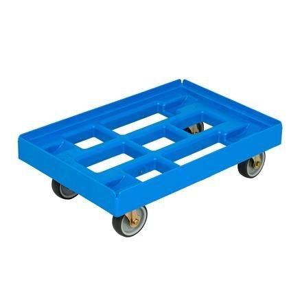 Transportroller 410x610 mm offene Ausführung blau