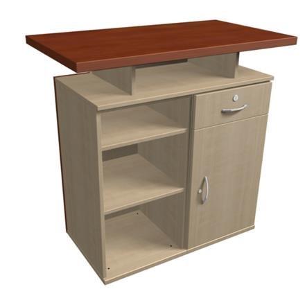 Design Theke Tresen aus Holz 106x108x60cm Top