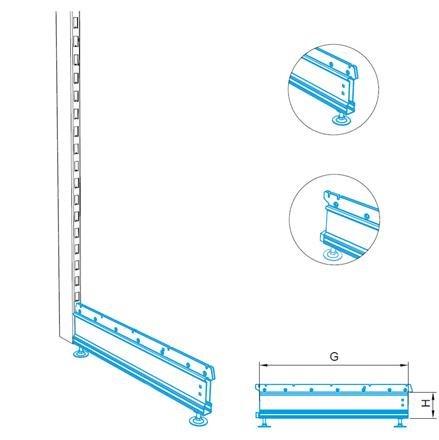 Fußteil ohne Blindplatte