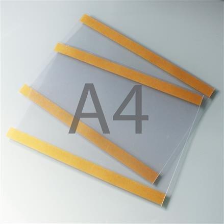 Postertasche A4 mit Klebebändern oben und unten QF