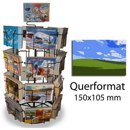 Kartenständer mit 24 Fächern für Postkarte Querformat