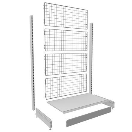 Regalsystem Basic mit Gitterwand