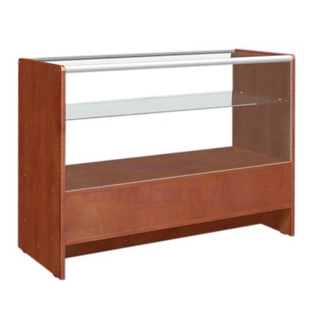 Ladentisch mit Vitrine 2 Ebenen 120x50x90cm