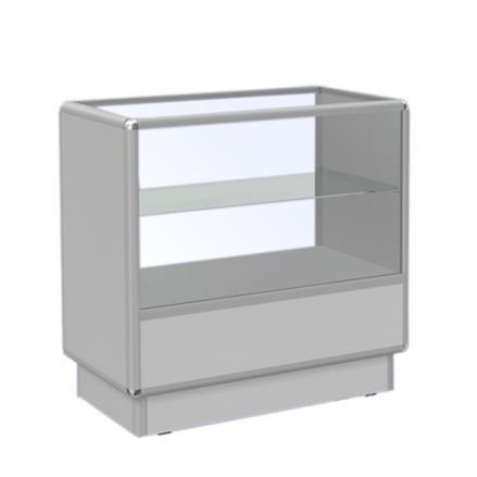 Ladentisch mit Vitrine 2 Ebenen 92x50x90cm