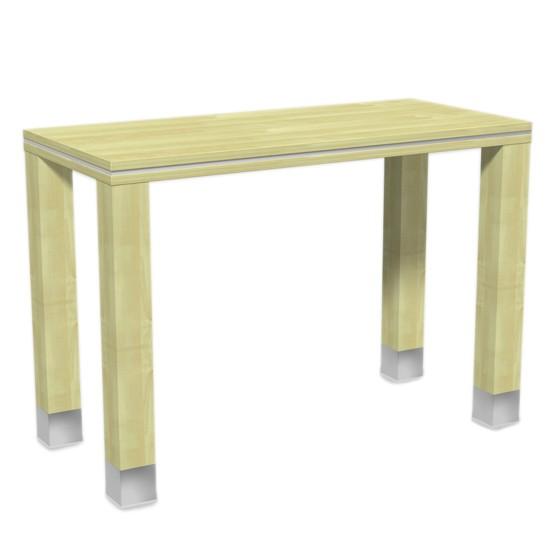Verkaufstisch aus Holz in Birne 130x90x60