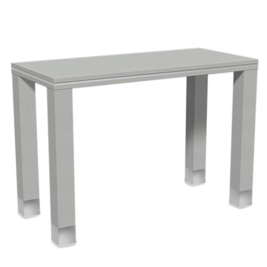 Verkaufstisch aus Holz in grau 130x90x60