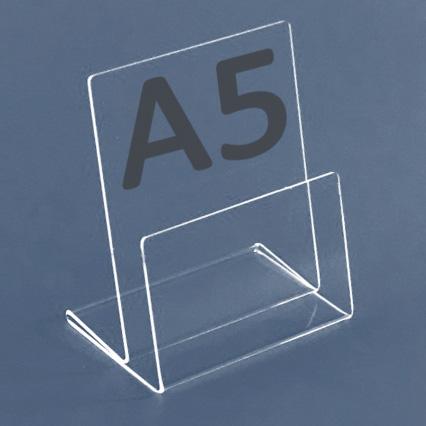 Tisch-Prospektständer für Format A5, Acryl