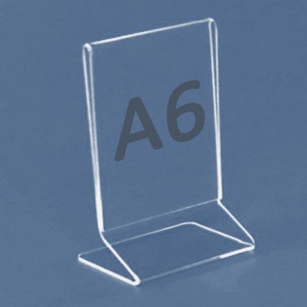 Tischaufsteller Z-Aufsteller für Format A5, Acryl