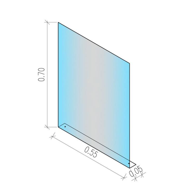 Checkout Acrylglas für Kassenzone