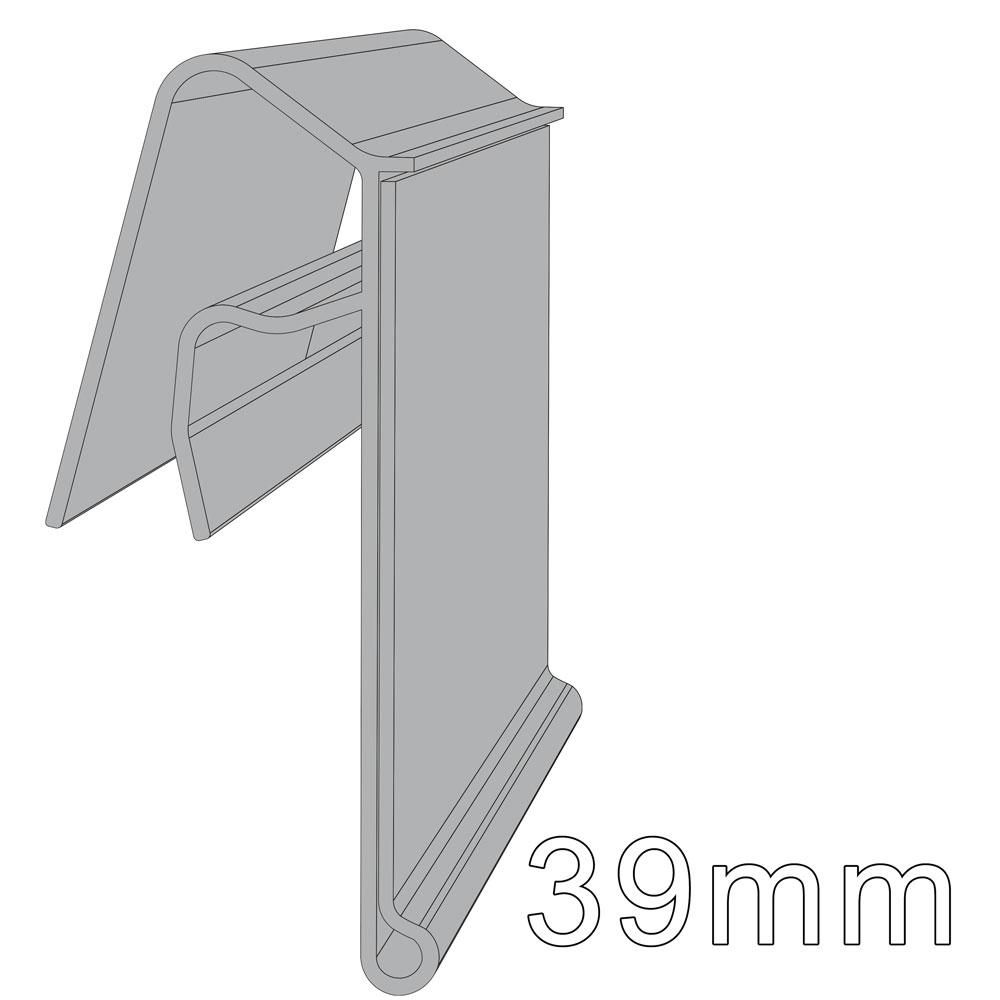 Drahtkorbprofil, grau; L: 580 mm, H: 39 mm