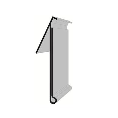 Schiene mit Klebeprofil für Regalfronten