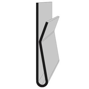 Scannerschiene mit Klebeprofil - H: 27 mm