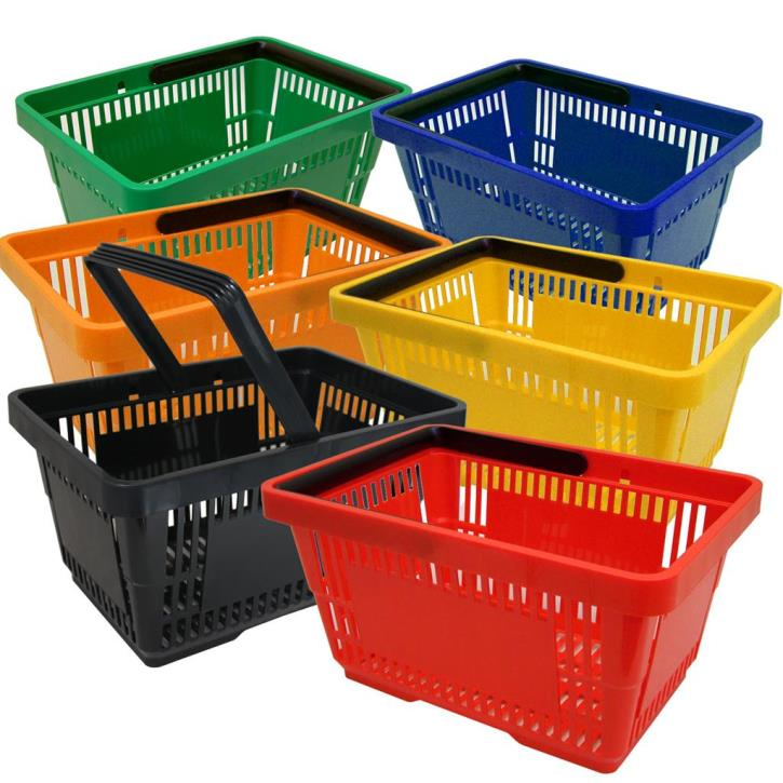 Einkaufskorb mit 1 Bügel,21 Liter, verschiedene Farben