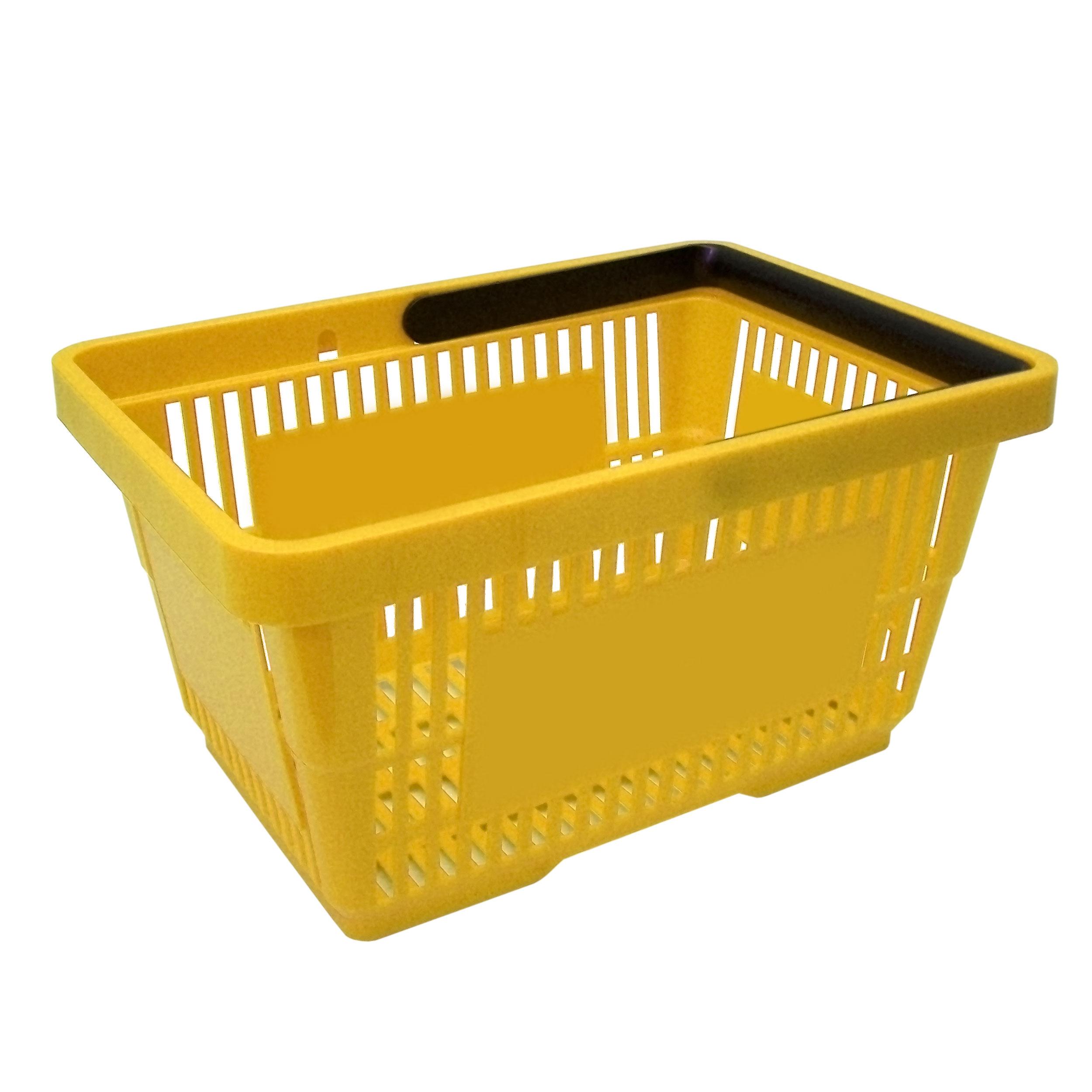 Einkaufskorb mit 1 Bügeln, 21 Liter, gelb