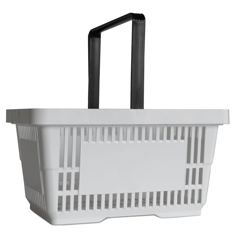 Einkaufskorb mit 1 Bügel,22 Liter, weiss