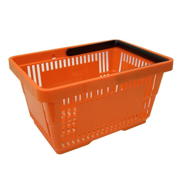 Einkaufskorb mit 1 Bügel,21 Liter, orange