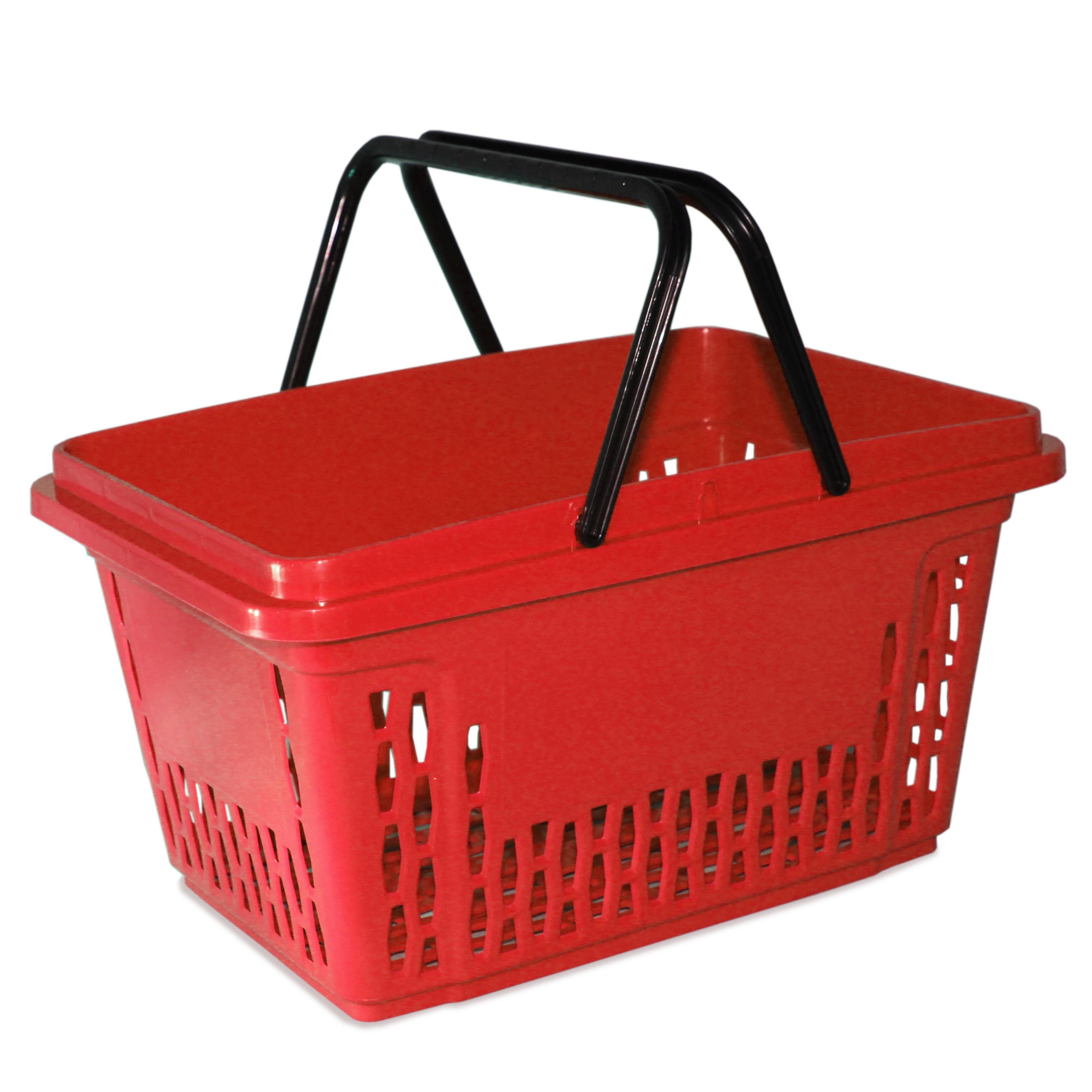 Einkaufskorb mit 2 Bügel, 40 Liter, rot