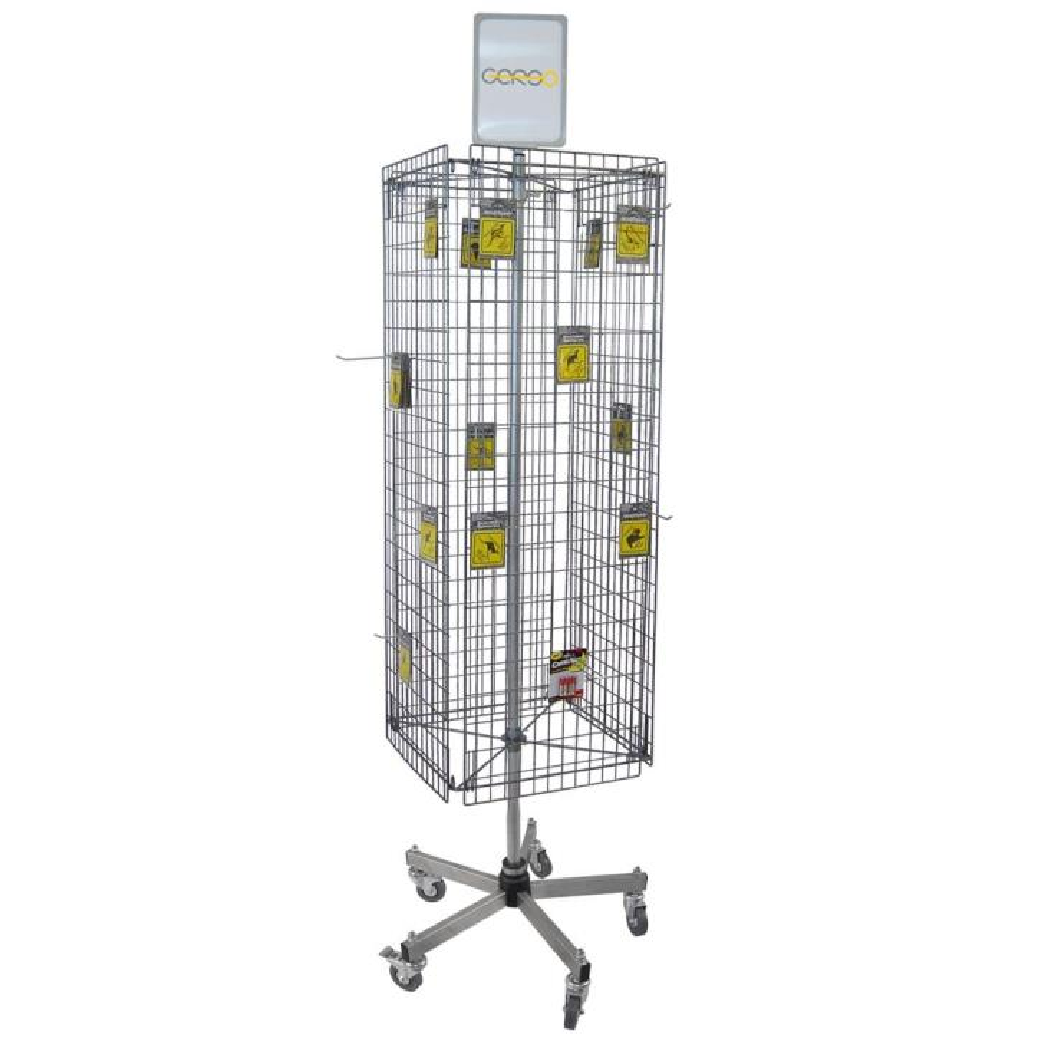 Kombi-Ständer mit 4 Gittern, Fuß standard