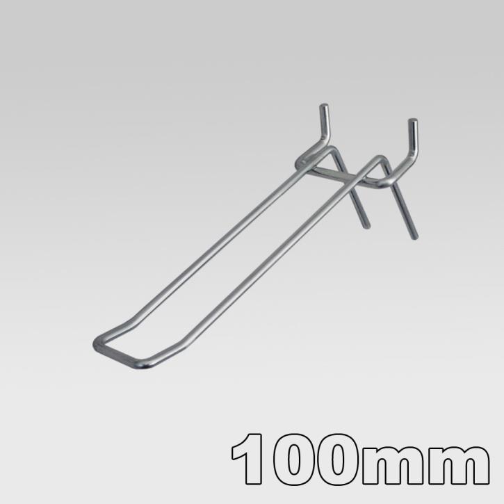 Doppelhaken für Lochblech 100 mm