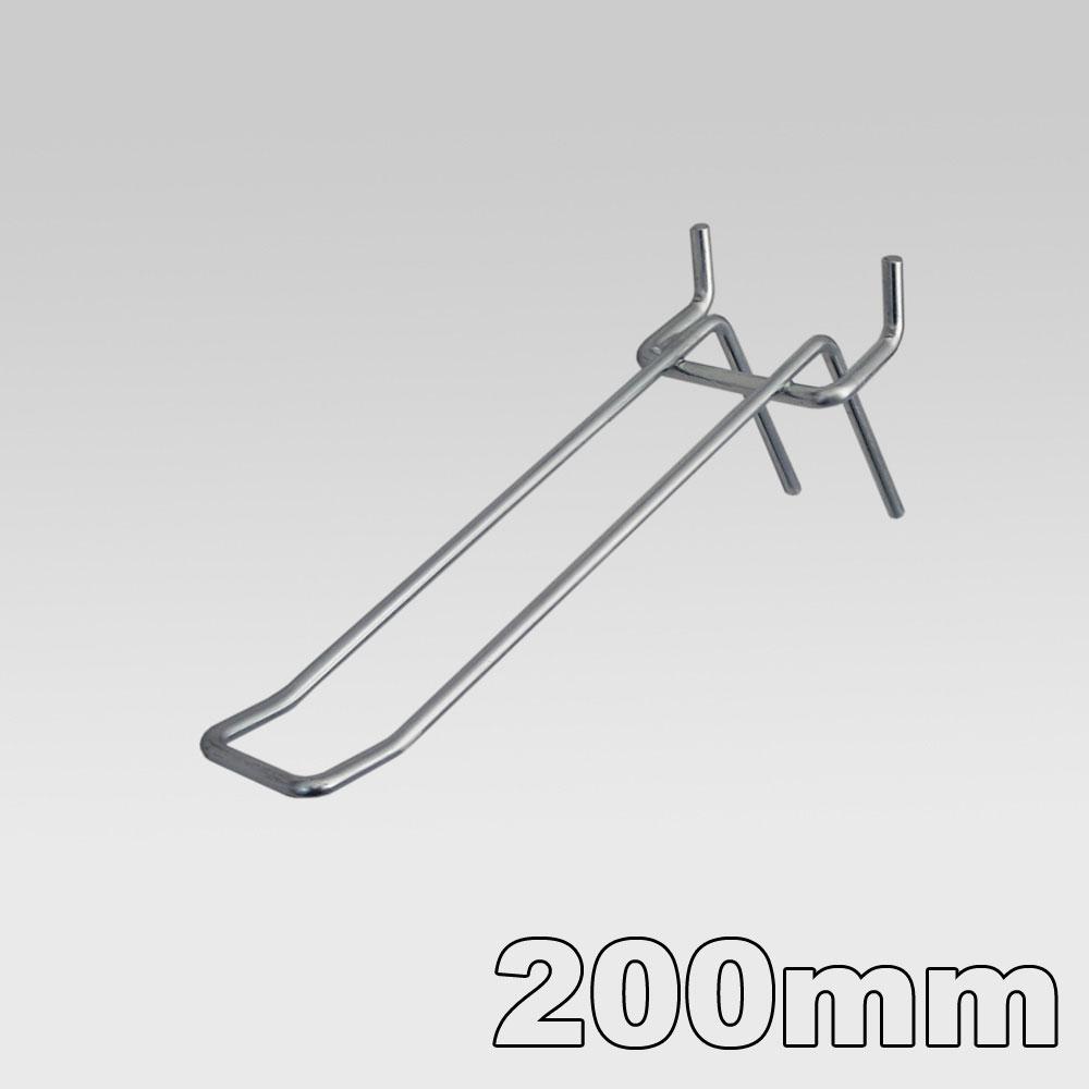 Doppelhaken für Lochblech Länge = 200 mm