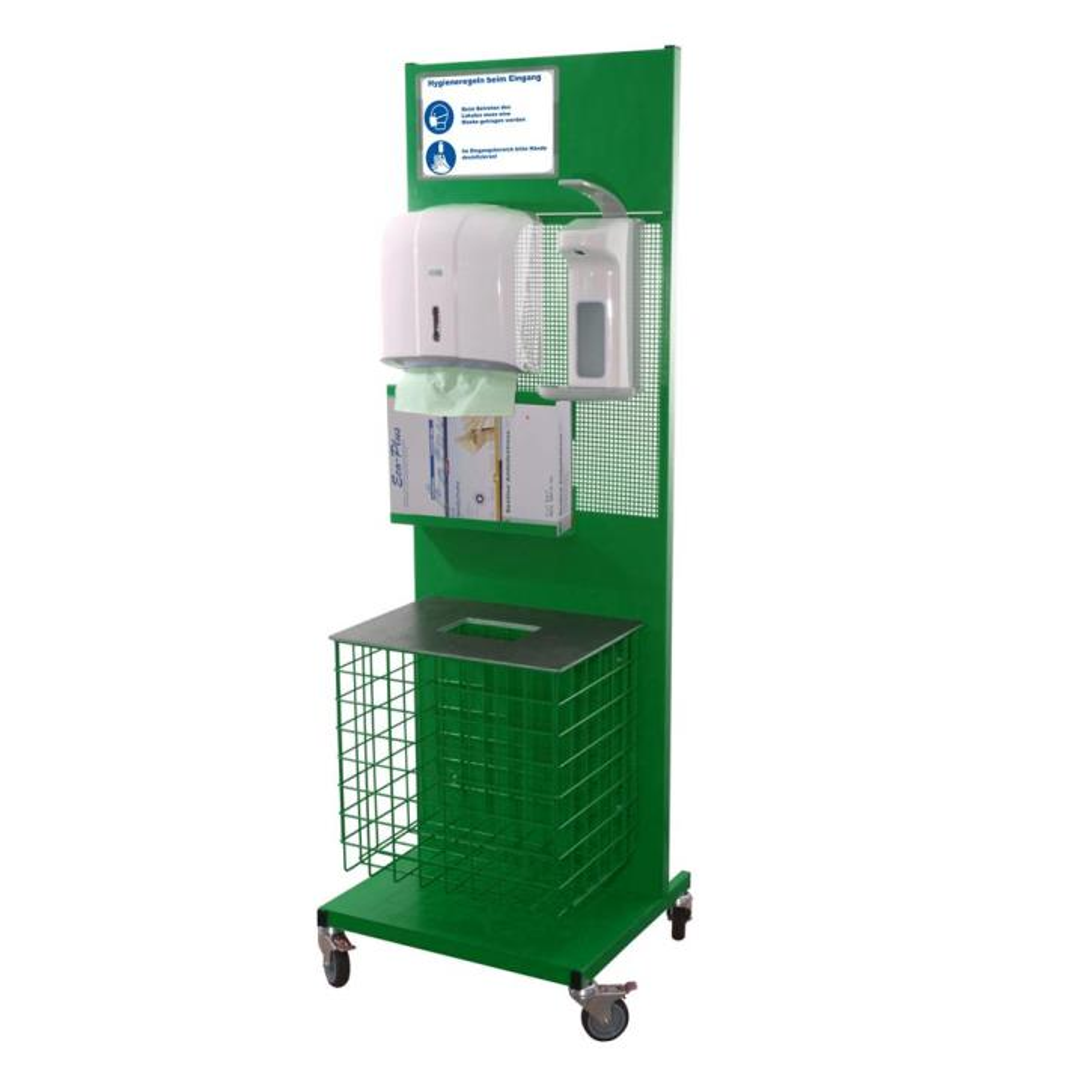 Hygienestation aus Metall Komplett RAL 6026