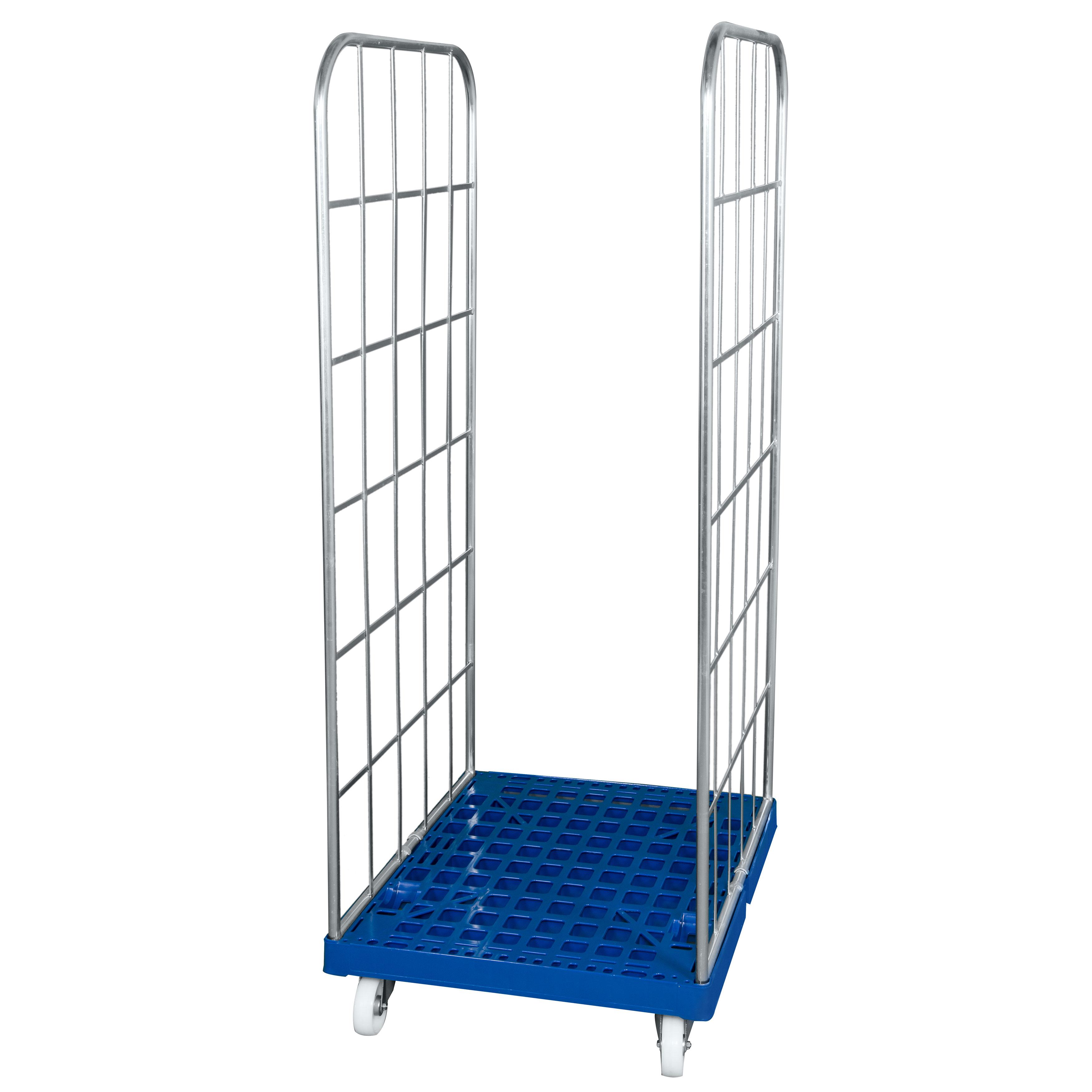 Rollbehälter mit Seitengittern in Blau 1350mm Höhe