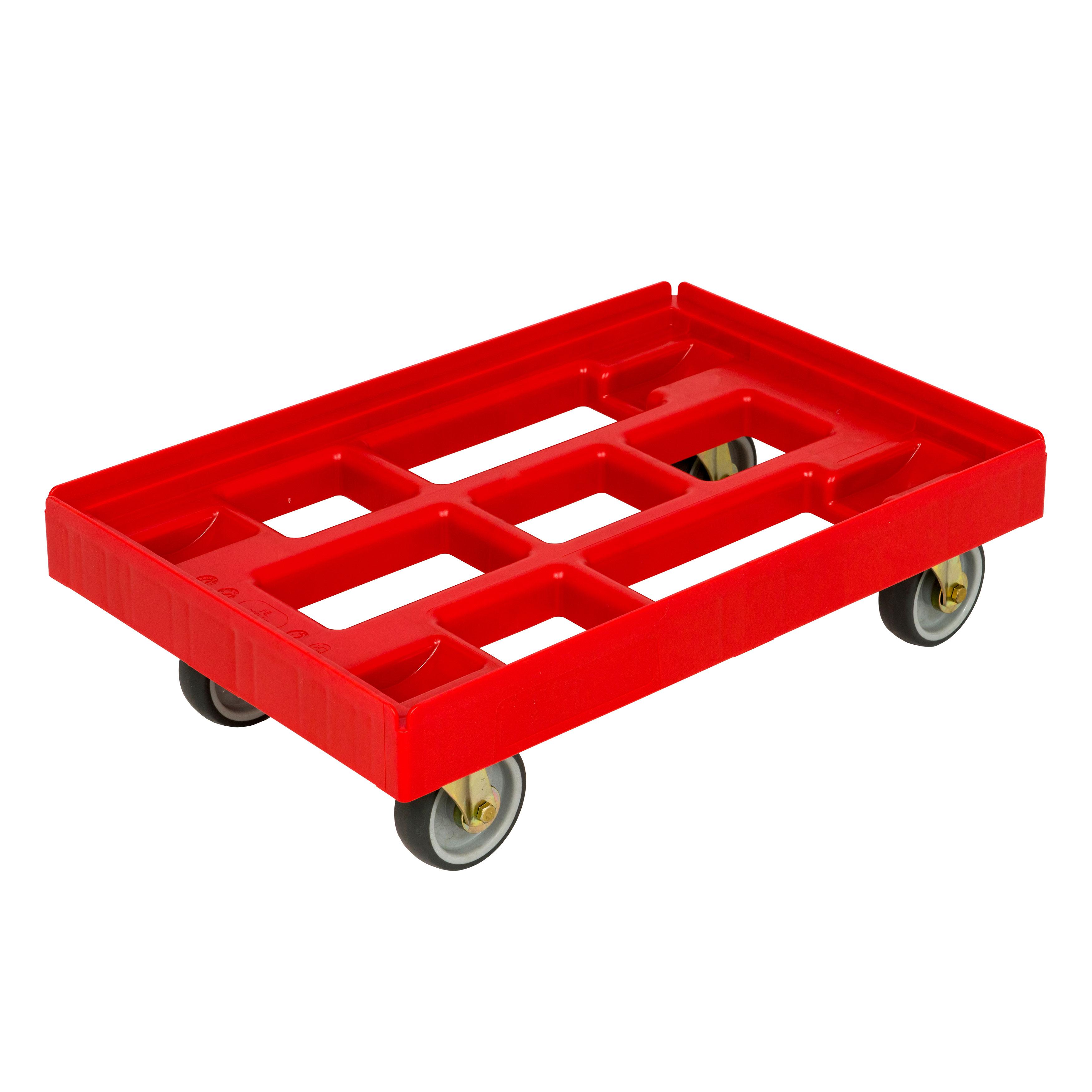 Transportroller 410x610 mm offene Ausführung rot