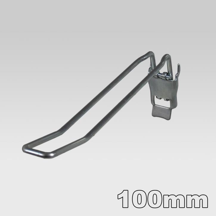 Doppelhaken mit Klappe, L=100 mm, D=4,8 mm