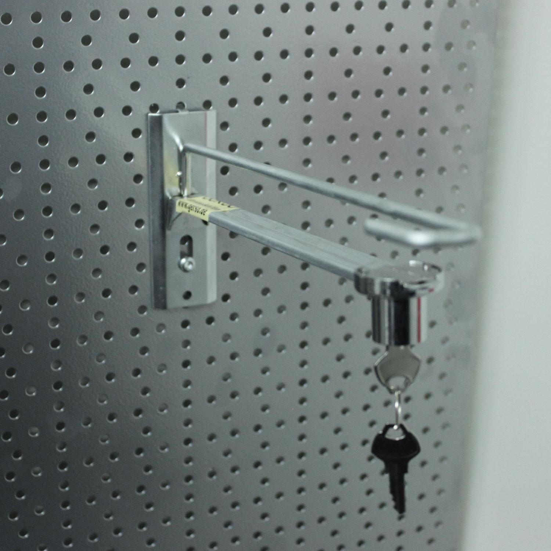 Haken mit Sicherheitsschloss, 20 x 200 mm
