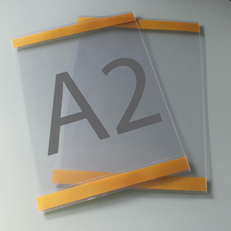 Postertasche A2 mit Klebebändern oben und unten