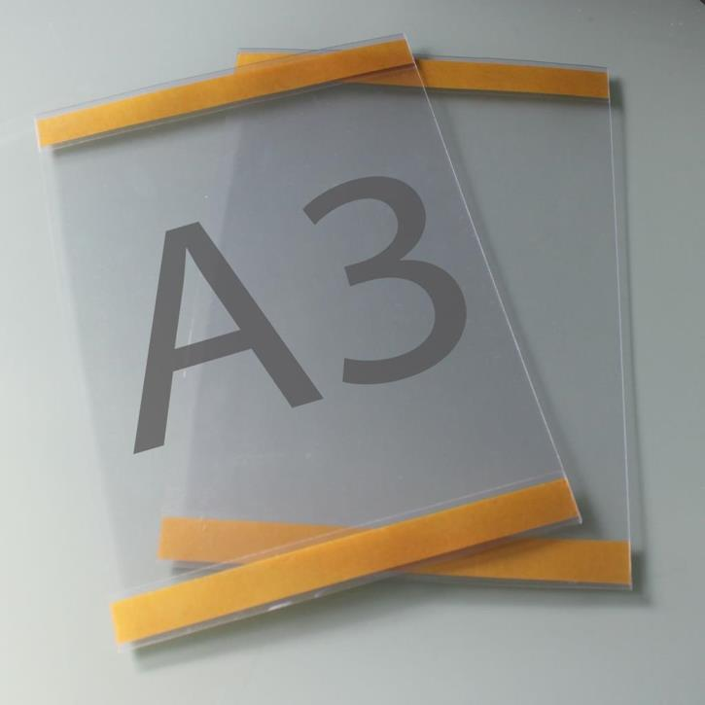 Postertasche A3 mit Klebebändern oben und unten