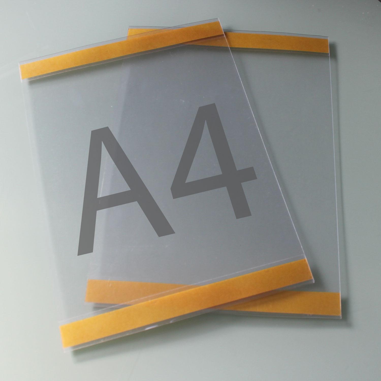 Postertasche A4 mit Klebebändern oben und unten