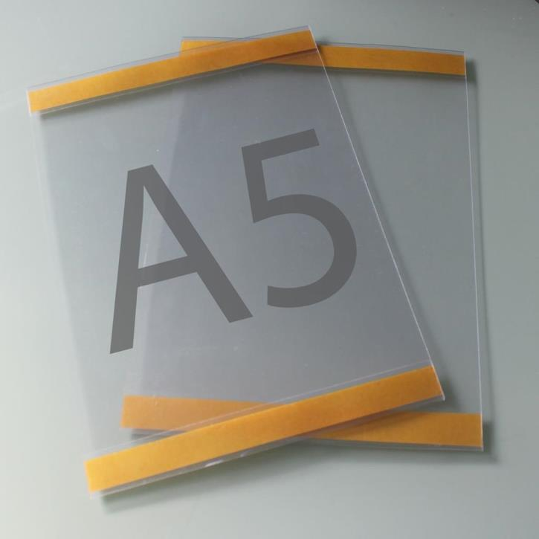Postertasche A5 mit Klebebändern oben und unten