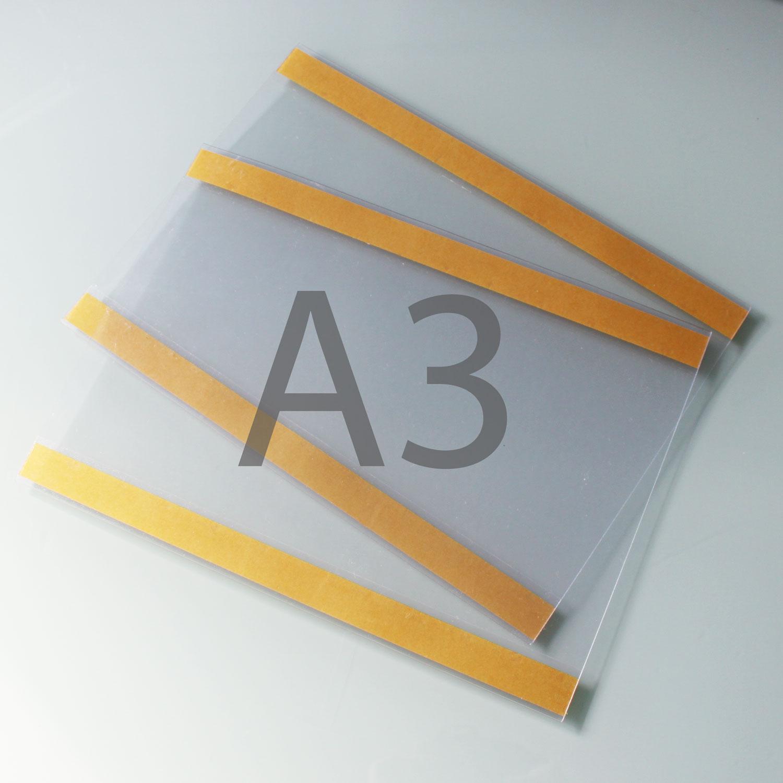 Postertasche A3 mit Klebebändern oben und unten QF