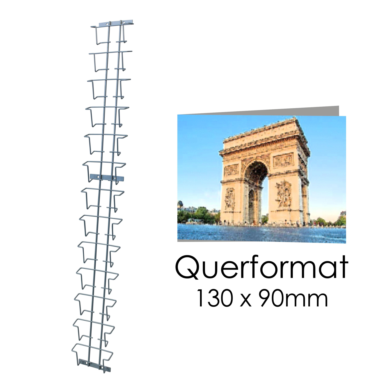 Postkartenleiste einfach: 130x90mm,13x Querformat