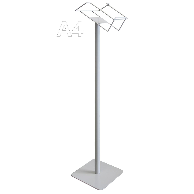 Prospektständer 1 x DIN A4, Fußplatte 25 x 25 cm